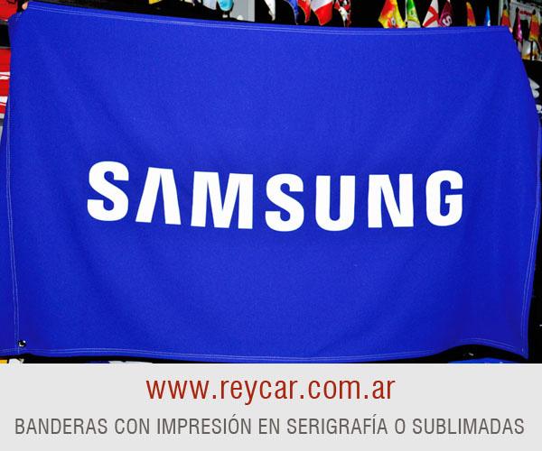 4238c6dbde5ac Banderas con logo Publicitarias exterior e interior