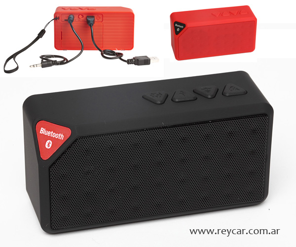 SPEAKER BLUETOOTH RECTANGULAR. Medidas: 10.5 x 3.5 x 5.3 cm. Plástico y e...