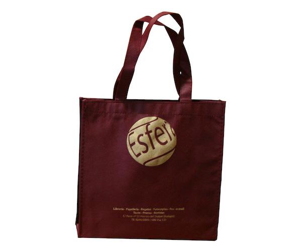 21d7b95fd Bolsas ecológicas impresas con logo | Bolsa de friselina con fuelle ...
