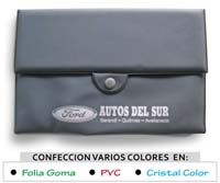 porta documentos para autos con logo